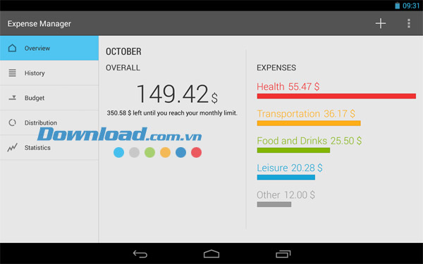 Markus Expense Manager cho Android