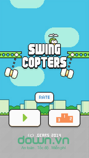 Swing Copters cho iOS