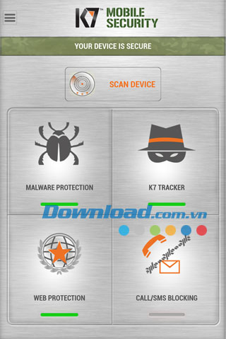 K7 Mobile Security cho Android