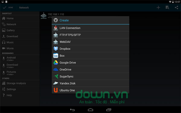 File Manager HD cho Android