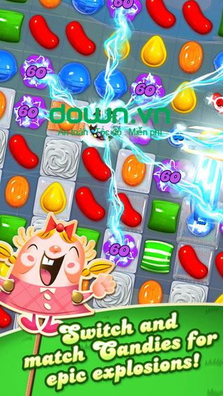 Candy Crush Saga cho iOS