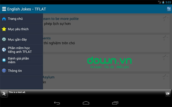Truyen Cuoi Tieng Anh cho Android