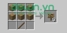 Figure 12: Cách chế tạo đồ trong Minecraft