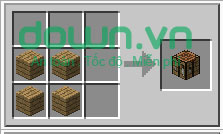 Figure 3: Cách chế tạo đồ trong Minecraft