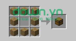 Figure 4: Cách chế tạo đồ trong Minecraft
