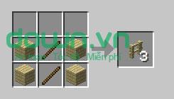 Figure 8: Cách chế tạo đồ trong Minecraft