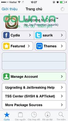 Hướng dẫn sử dụng Cydia trên iPhone