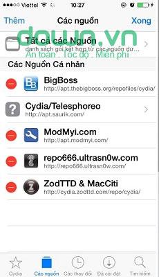 Figure 2: Hướng dẫn sử dụng Cydia trên iPhone