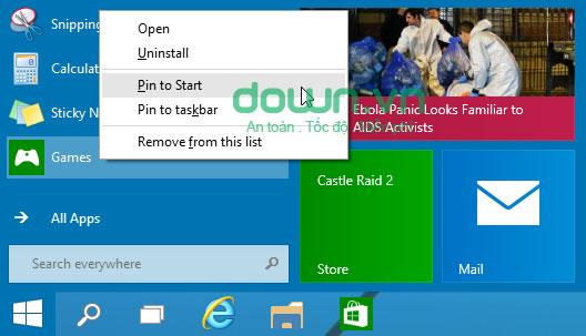 Figure 2: Một số cách tùy chỉnh Start Menu trên Windows 10