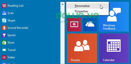 Figure 4: Một số cách tùy chỉnh Start Menu trên Windows 10