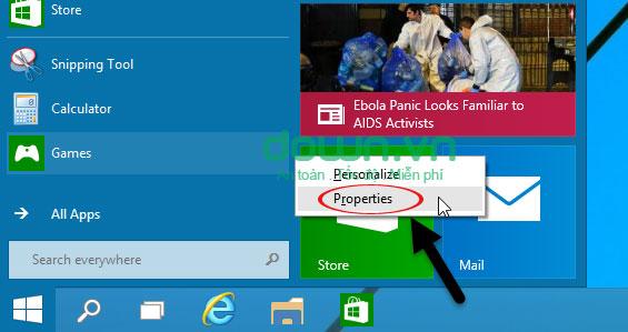 Figure 7: Một số cách tùy chỉnh Start Menu trên Windows 10