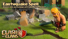 Cách sử dụng Earthquake Spell trong game Clash of Clans