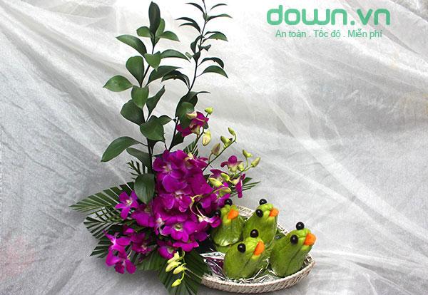 Cách làm các con vật bằng hoa quả để trang trí Trung Thu