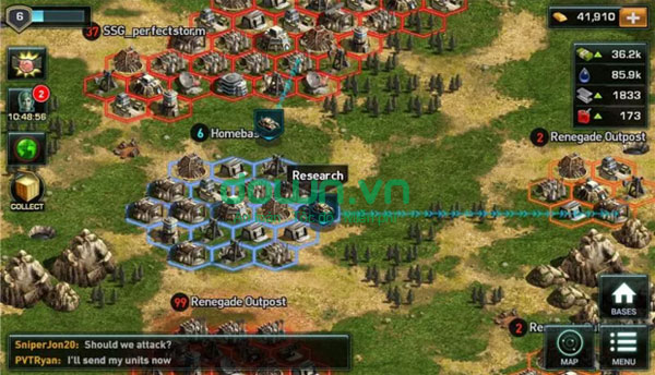 Tải game War of Nations