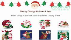 Zalo cập nhật sticker Giáng sinh độc đáo