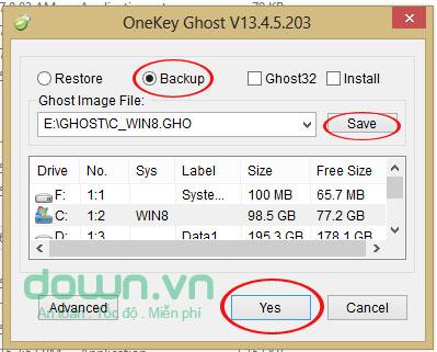 Tải phần mềm OneKey Ghost