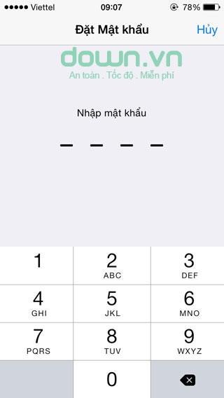 Hướng dẫn tạo mật khẩu cho iPhone